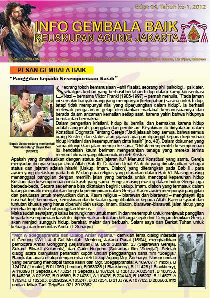 Info Gembala Baik KAJ, Edisi Keempat 2012