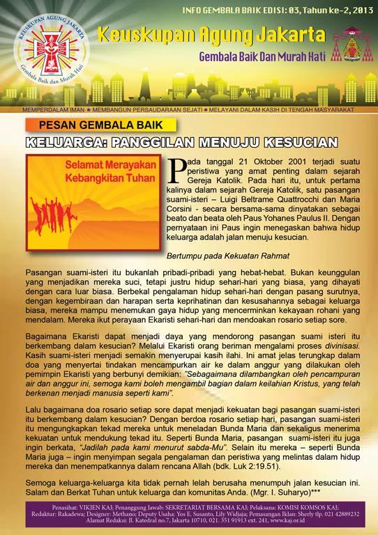 Info Gembala Baik KAJ, Edisi Ke-2/2013
