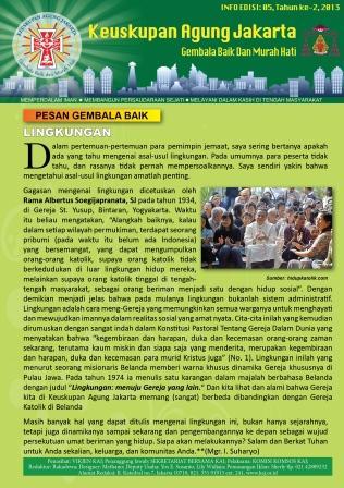 Info Gembala Baik KAJ Edisi, Ke-5/2013