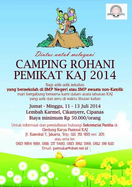 Poster Camping Rohani Pemikat KAJ 2014-