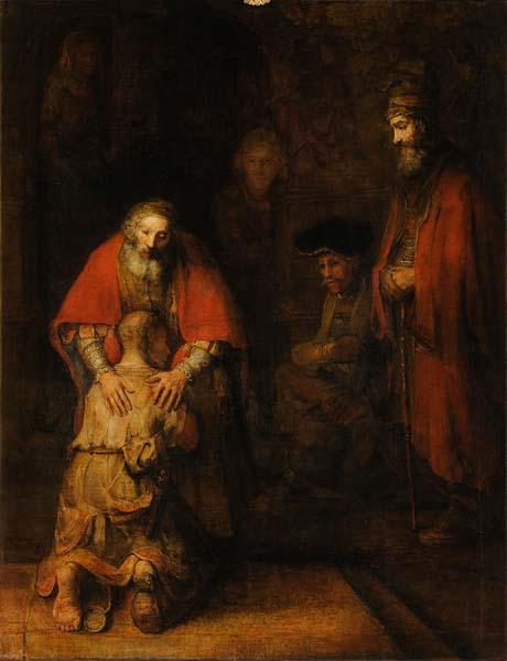 "Lukisan Lengkap ""The Return of The Prodigal Son"" karya Rembrandt Harmenszoon van Rijn (1606 – 1669).1"