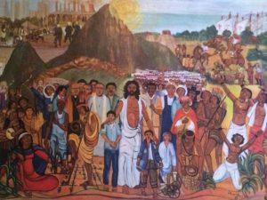 """Lukisan """"Yesus Menyambut Segala Suku Bangsa"""" di Gereja Lauzerte Prancis"""