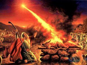 Nabi Elia menghadapi nabi palsu baal di Gunung Karmel (1 Raj 9). Nabi Elia merupakan Bapa Rohani para Petapa OCD